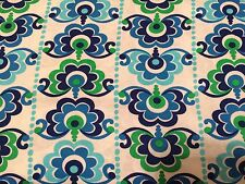 Crafts Quilting Sewing Fabric Red Rooster Sundborn (4483) Blue Green White   BTY