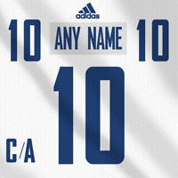 Vancouver Canucks Adidas White Jersey Any Name Any Number Pro Lettering Kit