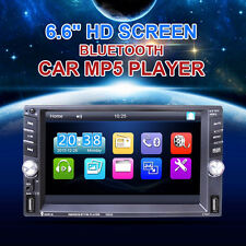 "6.6"" Touch Screen 2 DIN Bluetooth FM Radio Stereo Player Support 2USB TF AUX-IN"