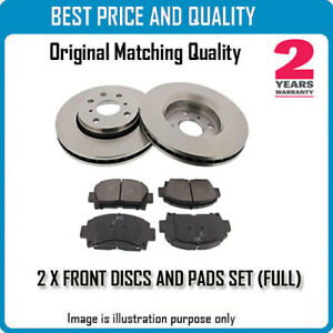 FRONT BRKE DISCS AND PADS FOR LAND ROVER OEM QUALITY 24981527