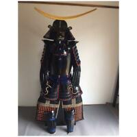 JAPANESE ARMOR SUIT KABUTO SET RARE ART DECOR LIFE SIZE REPLICA RARE YOROI JAPAN