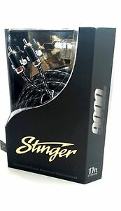 2 x Stinger 9000 RCA Interconnects Y Cable Dual Female/Single Male RCA SI92YF