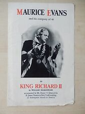 1938 - Grand Opera House - Flyer/Playbill - King Richard II - Maurice Evans