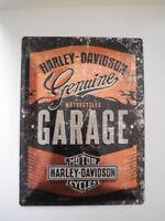 Harley Davidson Stahlblech Schild 3D B&S Garage Special Edition  30x40cm  MP4761