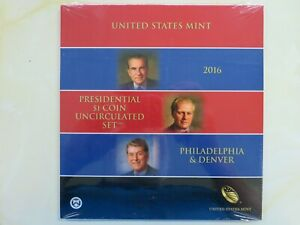 2016 P & D Presidential Dollars set Uncirculated US Mint Issued 6 coins SEALED