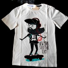 "SKATEBOARD BOYS/YOUTHS T-SHIRT SIZE 12 BNWT ""BE COOL-NEW YORK STATE PARK TEAM"""