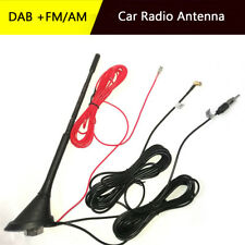 DAB +FM/AM Car Radio Antenna Aerial With Amplifier Roof Mount 5M Cable 12V DC