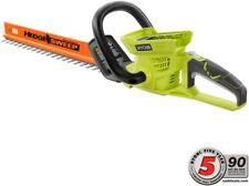 Cordless Ryobi Hedge Trimmer 24 in. Dual Action Blades Lithium-Ion 40V Tool-Only