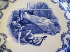 "Royal Doulton Plate Blue Gentle Lady 10 1/2"" England Bass Merchant of Venice"