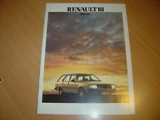 CATALOGUE Renault 18 Break de 1982
