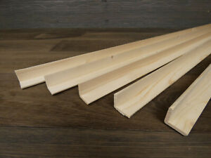 5 Winkelleisten Kiefer/Fichte 28 x 28 mm Länge 1000 mm Winkelleiste Eckleiste