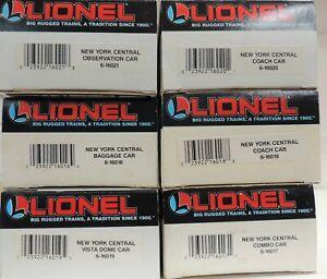 LIONEL O GAUGE  6 CAR NEW YORK CENTRAL PASSENGER CONSIST