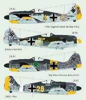 Lifelike 1/48 decal for Focke Wulf Fw-190 Pt 2 Hasegawa Tamiya & Eduard