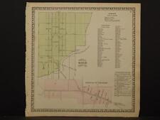 Pennsylvania, Lancaster County Map, 1864 Borough of Manheim & Strasburg O5#70