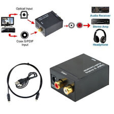 3.5mm,Digital Optical Coaxial Toslink To Analog RCA L/R Audio Converter Adapters