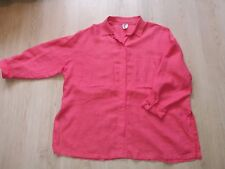 VUOKKO oversize linen blouse shirt top size M