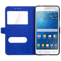 Etui Housse Coque Pochette Bleu Foncé Intérieur Silicone Samsung Galaxy S7