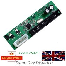 PATA IDE A SATA CONVERTER ADAPTER Plug & Play 7 +15 Pin 3,5 / 2,5 SATA HDD DVD VM UK