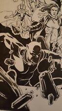 Deadpool Kills the Marvel Universe Again w/ Black Panther & Hulk 2 Pg Comic Art