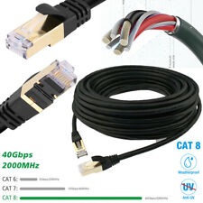 6/10/50/100Ft Cat8 Cable Ethernet Outdoor Gold Plated Rj45 Connector Lot Premiun