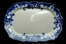 EARLY 19TH CENTURY FLOW BLUE VENTNOR DINNING PLATTER ENGLAND