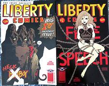 LIBERTY COMICS CBLDF 1-2 Tim Sale Mignola Covers Hellboy Aragones Ennis Evanier