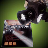 15W High End Cree LED Zoom Linterna de Cabeza Linterna Frontal, Batería y Foco