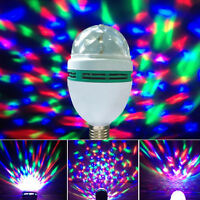 Crystal Magic Ball Rotating RGB 3W Disco DJ Stage LED Light Bulb Xmas Party Lamp