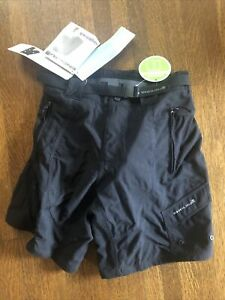 New-Old-Stock ENDURA Humvee Women's Shorts with Padded Liner XS, S, or XL Black