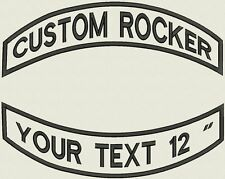"Pointed Rocker Set Custom Embroidered Patch Set Biker Motorcycle Badge 12"""