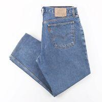 Vintage LEVI'S 616 02 Orange Tab Blue Denim Regular Straight Jeans Mens W36 L27