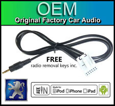 PEUGEOT 207 AUX lead, PEUGEOT RD4 STEREO AUTO AUX in Cavo iPod iPhone Android