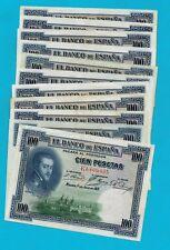 """BARATO Lote de 13 billetes de 100 pesetas año 1925 """"FELIPE II"""". MUY ACEPTABLES."""