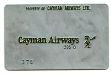 vintage CAYMAN AIRWAYS   AIRLINES Ticket metal Validation Plate