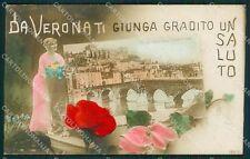 Verona Città Saluti da Foto cartolina QK7396