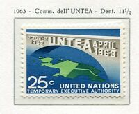 19052) UNITED NATIONS (New York) 1963 MNH** Nuovi** UNTEA