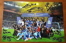 ♣ MARSEILLE Poster - Plusieurs Dédicaces (7) - Vainqueur Coupe de la Ligue 2012