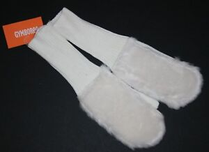 New Gymboree Ivory Faux Fur Mittens Size Large 10-12 Year Fair Isle Flurry Girls