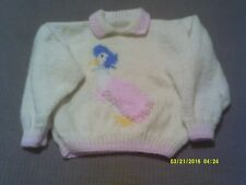 Hand Knitted Jemima Puddle-duck Pullover (NEW) for 2 -  3 year old.