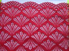 Rot elastisch SPITZE 23,5cm Breit elegante Borte angebot selten Nur 1€/0,5m