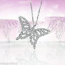 signed Swarovski~ crystal pave NIGHTENGALE BUTTERFLY Necklace Pendant ~NEW~ $115