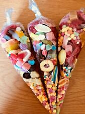 6 HALAL Pre Filled Sweet Cones 200g each. Pick 'N' Mix sweets. Party sweet bags