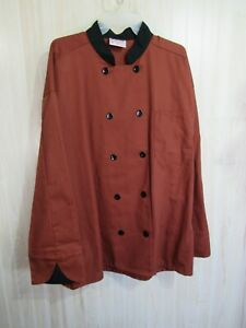 Uncommon Threads Chef Coat Size XL Unisex Brown Black Double Button Career Work