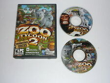ZOO TYCOON 2 WITH ENDANGERED SPECIES PC CD WINDOWS WIN