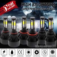 4-Sides 9005 9006 H11 Combo COB LED Headlight Fog Lamp Bulb High Low Beam 6500K