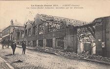 GUERRE 14-18 WW1 SOMME ALBERT les usines rochet schneider incendiées écrite