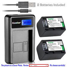 Kastar Battery LCD Charger for Sony NP-FH70 & Sony Cyber-shot DSC-HX1 DSC-HX100