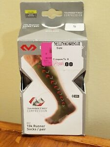 McDavid 8832 10k Runner Compression Socks - Charcoal / Bright Yellow - S Small