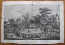 Cook: Ritual Fighting Hapaee Friendly Islands - 1774