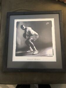 Charles Barkley 76ers Extremely Rare Nike Force Poster Professionally Framed